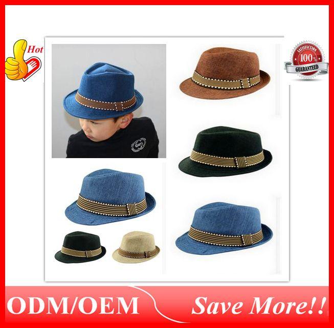 f9e99d1b3c1de 2019 2016 New Fashion Kids Unisex Fedora Hats Cap For Children Contrast  Trim Cool Jazz Chapeu Feminino Trilby Sombreros Ouc021 From Starlightsdh