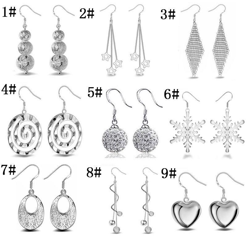 c68381520 2019 925 Sterling Silver Dangle Chandelier Earrings Small Solid Heart  Snowflake Charm Earring For Women Jewelry From Huanlekaihuai, $1.51    DHgate.Com