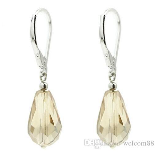 / parti 925 sterling silver örhänge krokar smycken fynd komponenter för DIY gåva hantverk 16mm W230