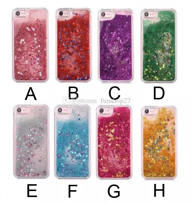 For IPhone 7 7 Plus Liquid Floating Bling Glitter Stars Clear Hard Case  Cover For Apple IPhone 5s SE 6 6s Plus BD0216 Custom Leather Cell Phone  Cases ... dc1c98b9b5