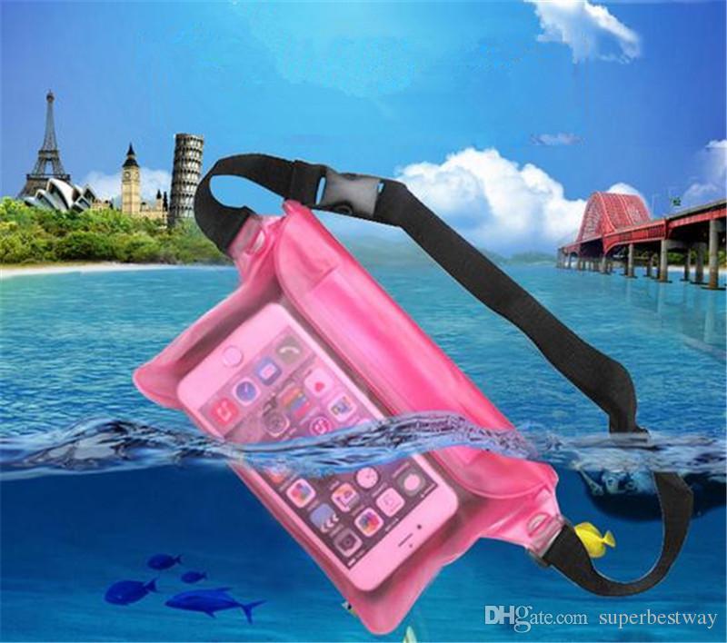 marsupio universale Custodia impermeabile Custodia impermeabile Custodia subacquea Tasca asciutta telefoni cellulari Samsung LG SCA160