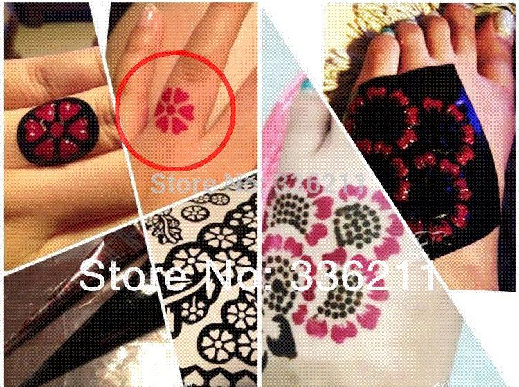 large temporary tattoo stencil henna tatoo paste template