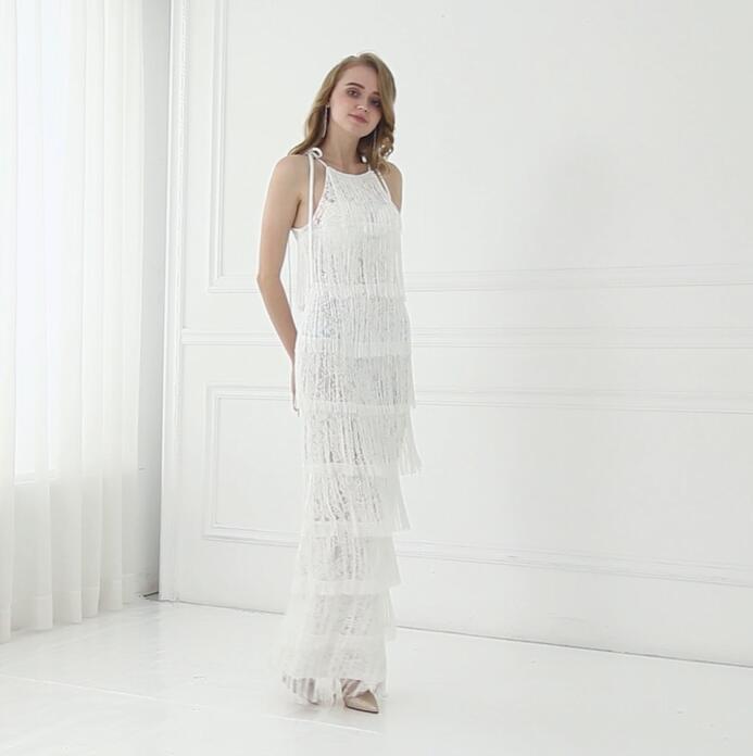 Discount Beach Wedding Dresses White Lace Bohemian Wedding Dress