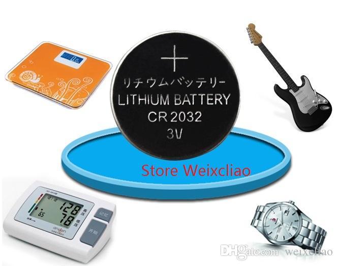 1 개 CR2032 3V 리튬 이온 버튼 셀 배터리 CR 2032 3 볼트 리튬 이온 배터리 트레이 패키지 무료 배송
