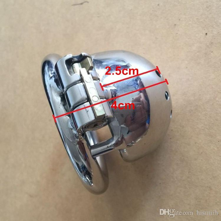 2016 중국 최신 잠금 디자인 25mm 케이지 길이 스테인레스 스틸 초소형 남성 순결 장치 1