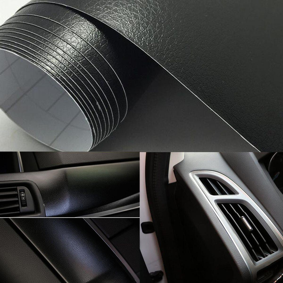 Großhandel Neue 12 Zoll X 60 Zoll Pu Leder Textur Auto Vinyl Wrap ...
