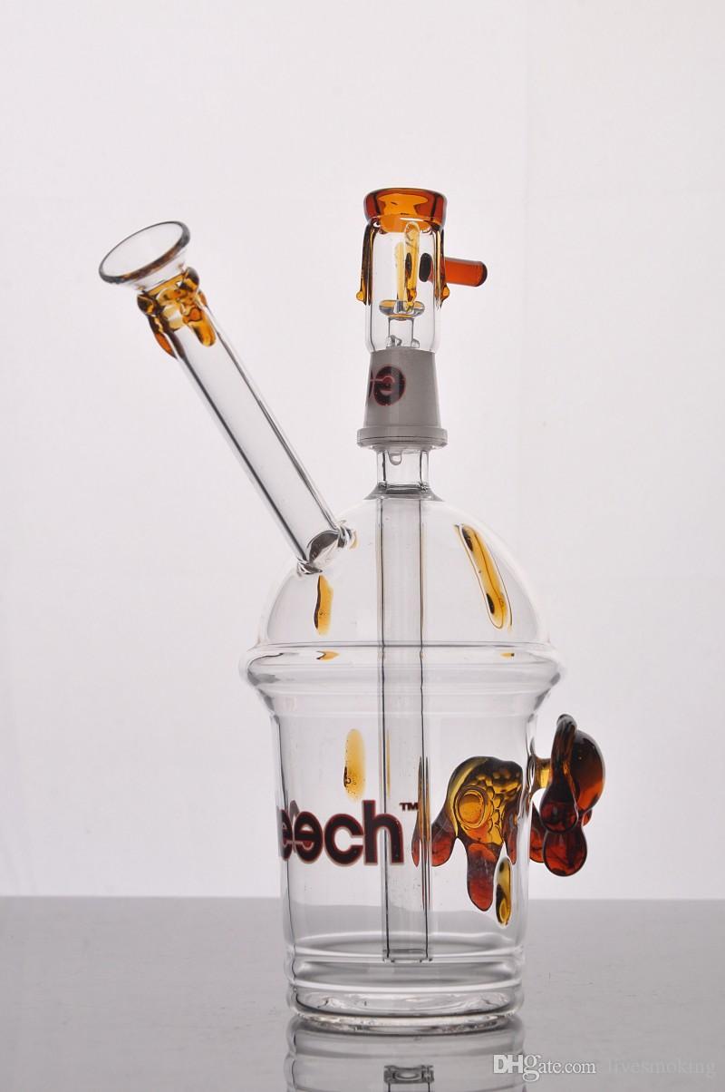 Bong de vidrio de cheech con un par de tortuga de aceite de raza de vidrio Mini Hookah Glass