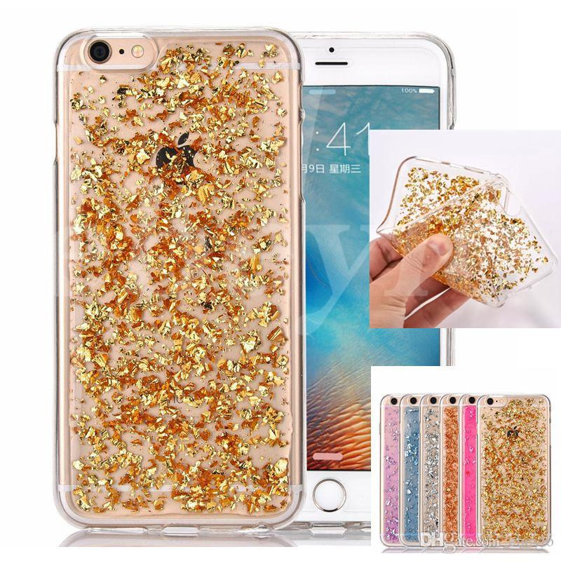 new arrival 83c88 d1dd9 For Samsung Note 7 Colorful TPU Case For Grand Prime G5308 Galaxy S6 Iphone  7 Soft TPU Gel Back Cover Case Gold Foil