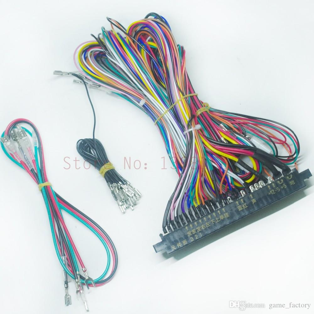 jamma harness 28 pin with 5 6 buttons wires discount jamma harness 28 pin with 5,6 buttons wires for arcade how to wire a jamma harness at pacquiaovsvargaslive.co