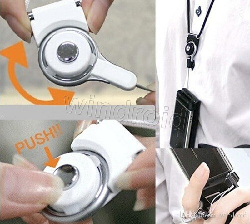 Drehbarer Umhängeband Abnehmbarer Ring Lanyard hängen Charming Charms Für Handy MP3 MP4 Flash-Laufwerke ID-Karten Handy Bunte 100st