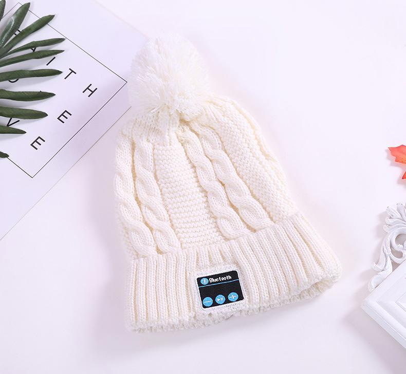 2017 Regalo de Navidad Nueva Llegada Bluetooth beanie Hat Cap Knitted Winter Magic Manos Libres Música mp3 Hat para mujer Hombres Smartphone