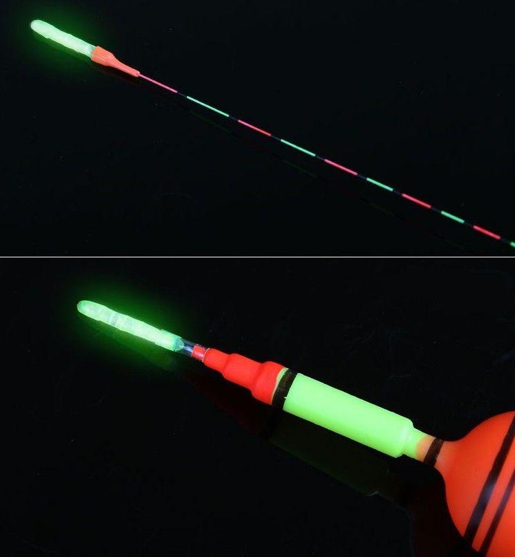 Rompin / 5bag Corcho de pesca palo de luz caña de pescar cebo Tip alarma Noche pescado Bobber del palillo del resplandor visible 3.0x25mm 4.5 * 37mm