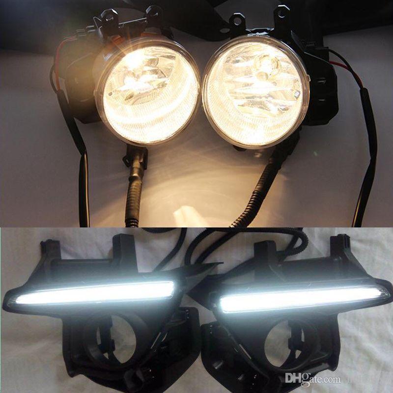 BRANCO Daytime Running luz amarela luz de nevoeiro DRL para TOYOTA Highlander 2014-2016