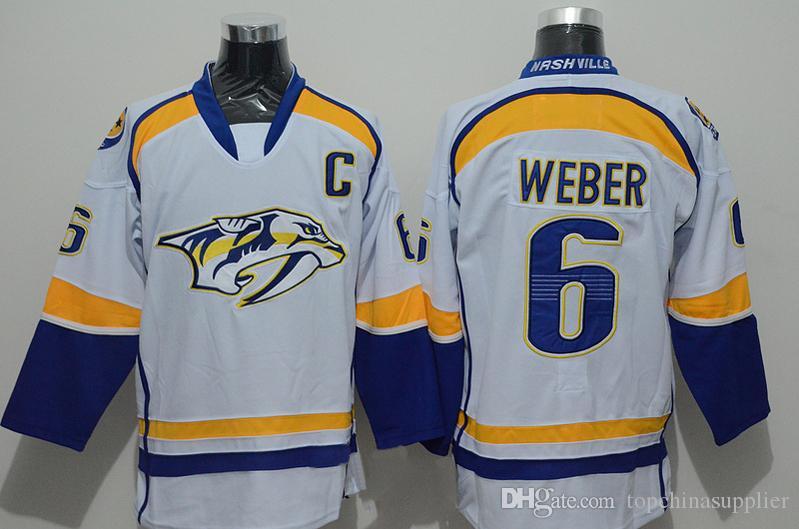 2018 Nashville Predators #6 Shea Weber Premier Player Jersey White Hockey  Jerseys Stanley Cup Playoffs Hockey Uniforms Mens Hockey Wear For Sale From  ...