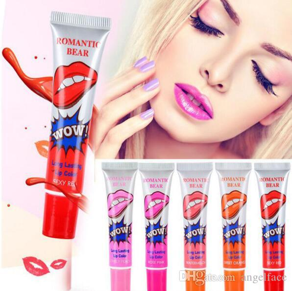 Romantic Bear Lip Gloss Women Make Up 15g Tint WOW Long Lasting Tint Lip Peel Off Lipstick Full lips Lip Gloss Tatto Waterproof
