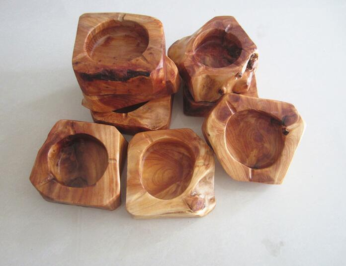 Holz Runde Asche Halter Rauch Zigarette Aschenbecher Pocket Aschenbecher Auto Holz Aschenbecher Fach Rauchen Zubehör Haushaltsversorgung