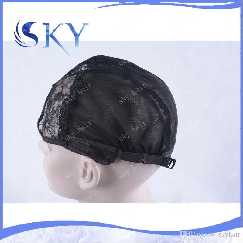 Casquettes de perruque en forme de U pour la fabrication de perruques Filets réglables Courroies réglables de haute densité