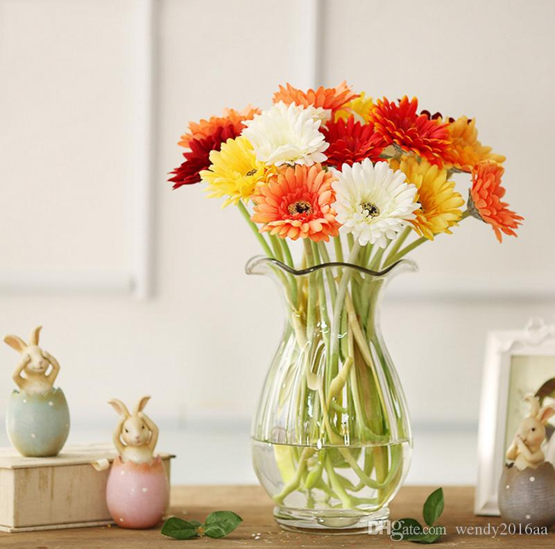 Artificial Flower With Option Gerbera Fake Silk Flowers Colorful for Birthday wedding Party Home Decoration