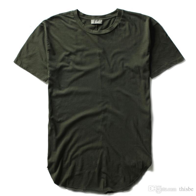 2016 Summer Fashion Hip Hop Men 100% Cotton Short Sleeve Zipper Round Bottom T Shirt Blank