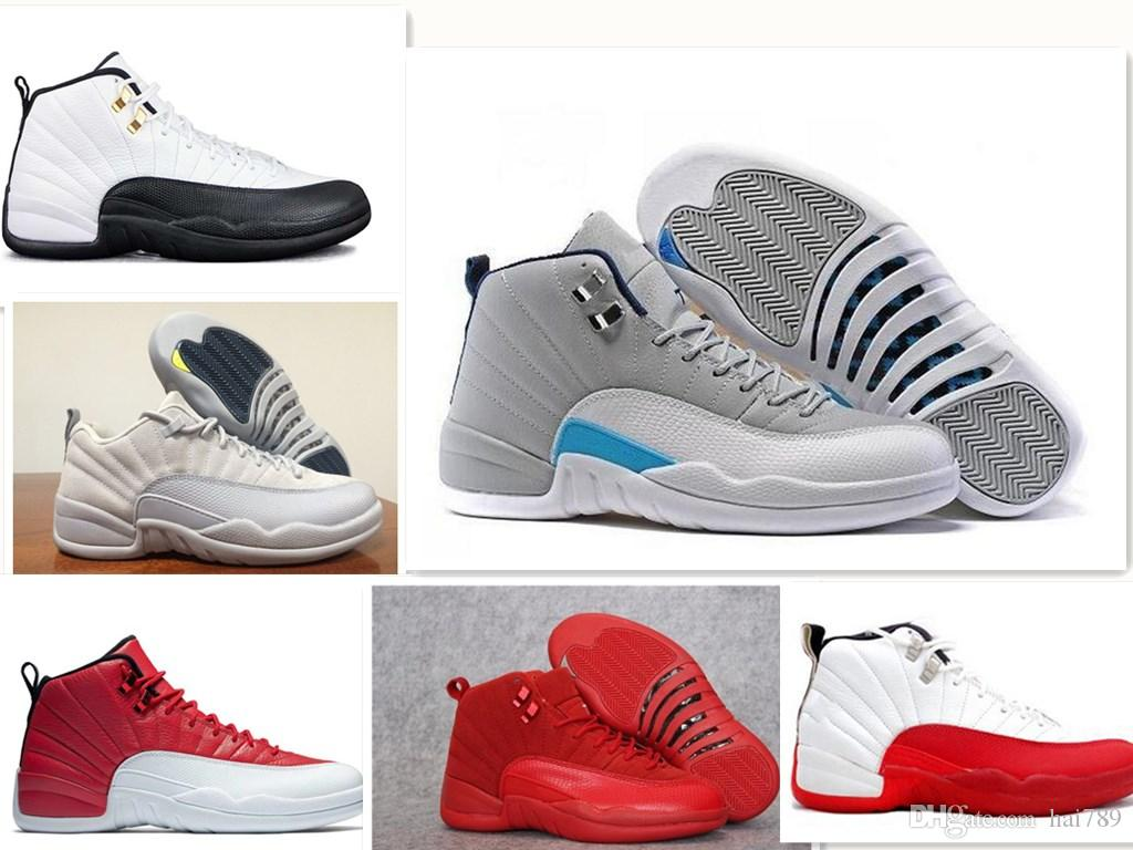 fd23ed231a2a NEW Cheap 12 Wool XII Basketball Shoes Ovo White Flu Game Wolf Grey ...
