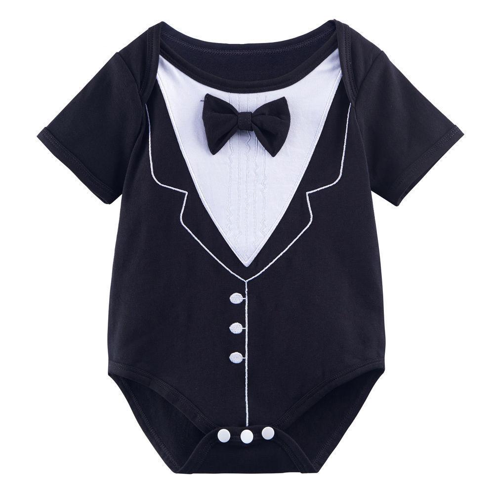 73e5202091aa 2019 Halloween Baby Boys Funny Tuxedo Gentleman Costume Bodysuit ...