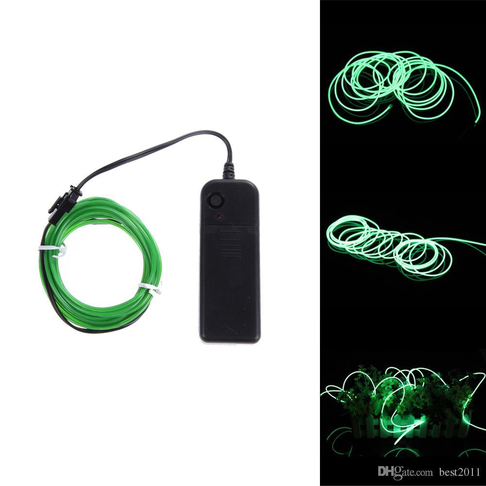 1m / 2m / 3m / 5m Neonlicht-Tanz-Partei-Dekor-Licht Neon-LED-Lampe Flexibler EL-Draht-Seil-Schlauch-wasserdichter LED-Streifen