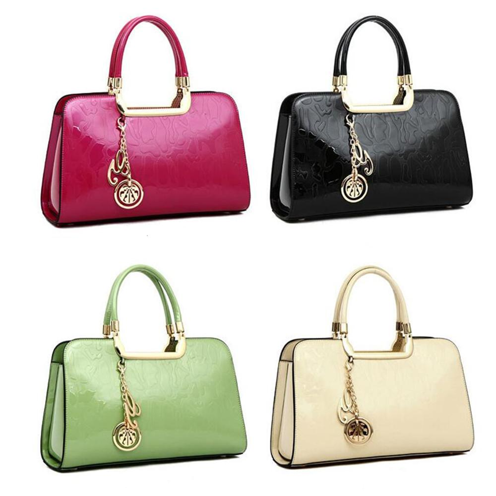 Russia Style Women Shoulder Bag Women Handbag Crossbody Bags Genuine Patent  Leather Pendant Tote Women Messenger Bag Clutches Hobo Purses Leather Bags  For ... cbeb81908c