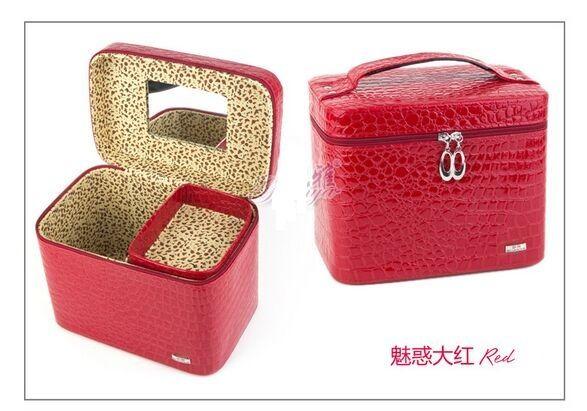 20 * 24 * 16 cm Princesa europea Luxry Capas dobles Conjuntos de joyería Artículos diversos Cosméticos Joyero Organizador de almacenamiento Caja / Caja / Cubos / Gabinetes
