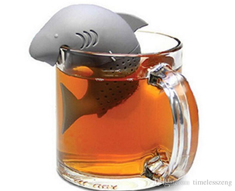 Brand New Promotion Geschenke! Tee-Werkzeug-Art Haifisch-Form-Silikon-Tee-Ei / 100% Nahrungsmittelgrad-Silikon-Haifisch-Teesieb