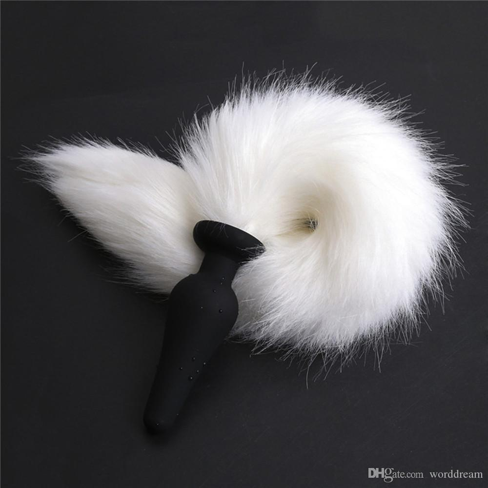 503bf2e80 Faux Fox Tail Anal Plug Silicone Anus Butt Plug In Adult Games For Female