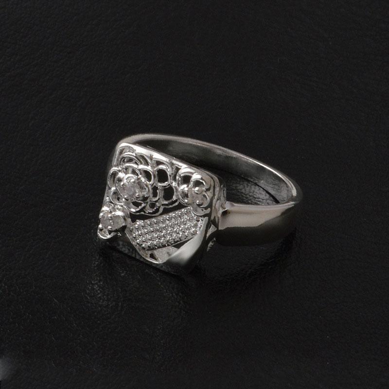 New Brand Wedding Rings Fashion Charms Diamond Jewelry Austrian Crystal Engagement Ring Brand Wedding Silver 925 Jewelry