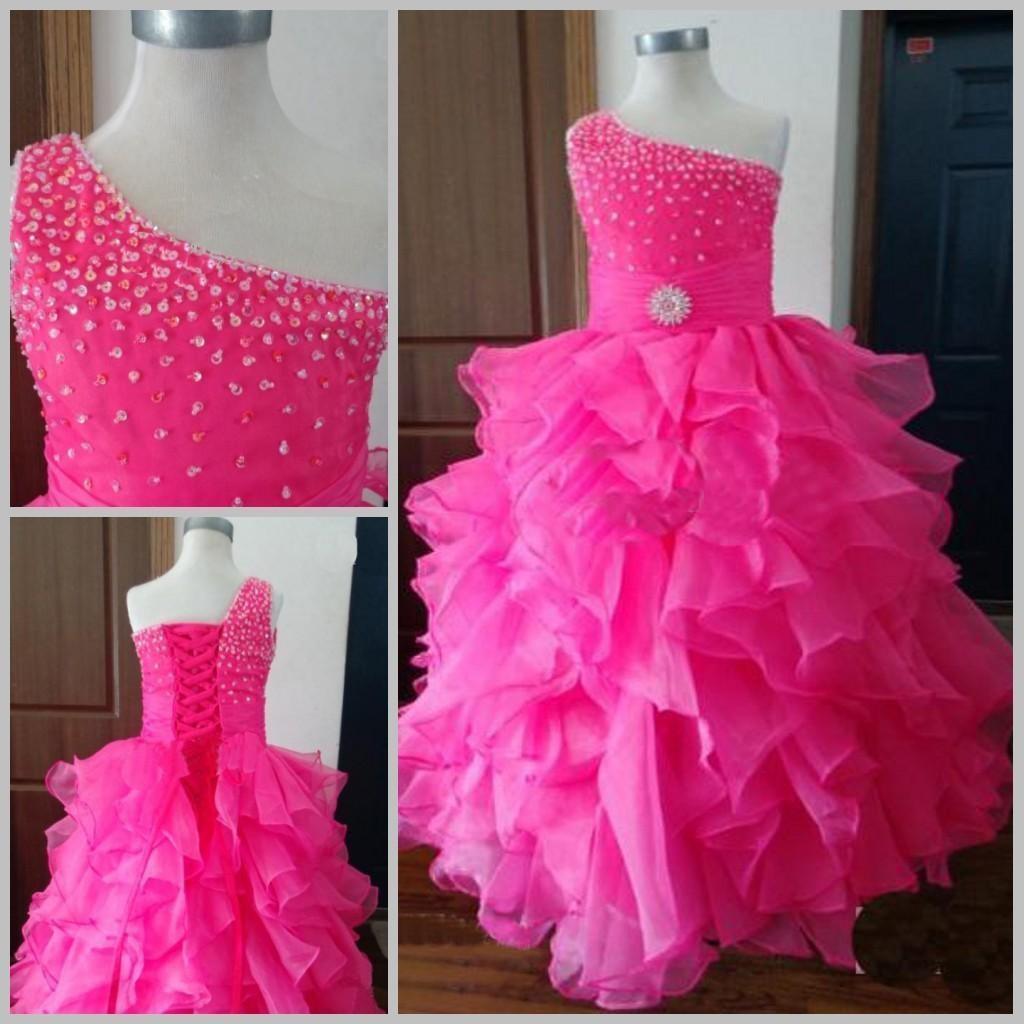 Compre Barbie Princesa Aplique Vestidos Largos Niñas Vestido De ...