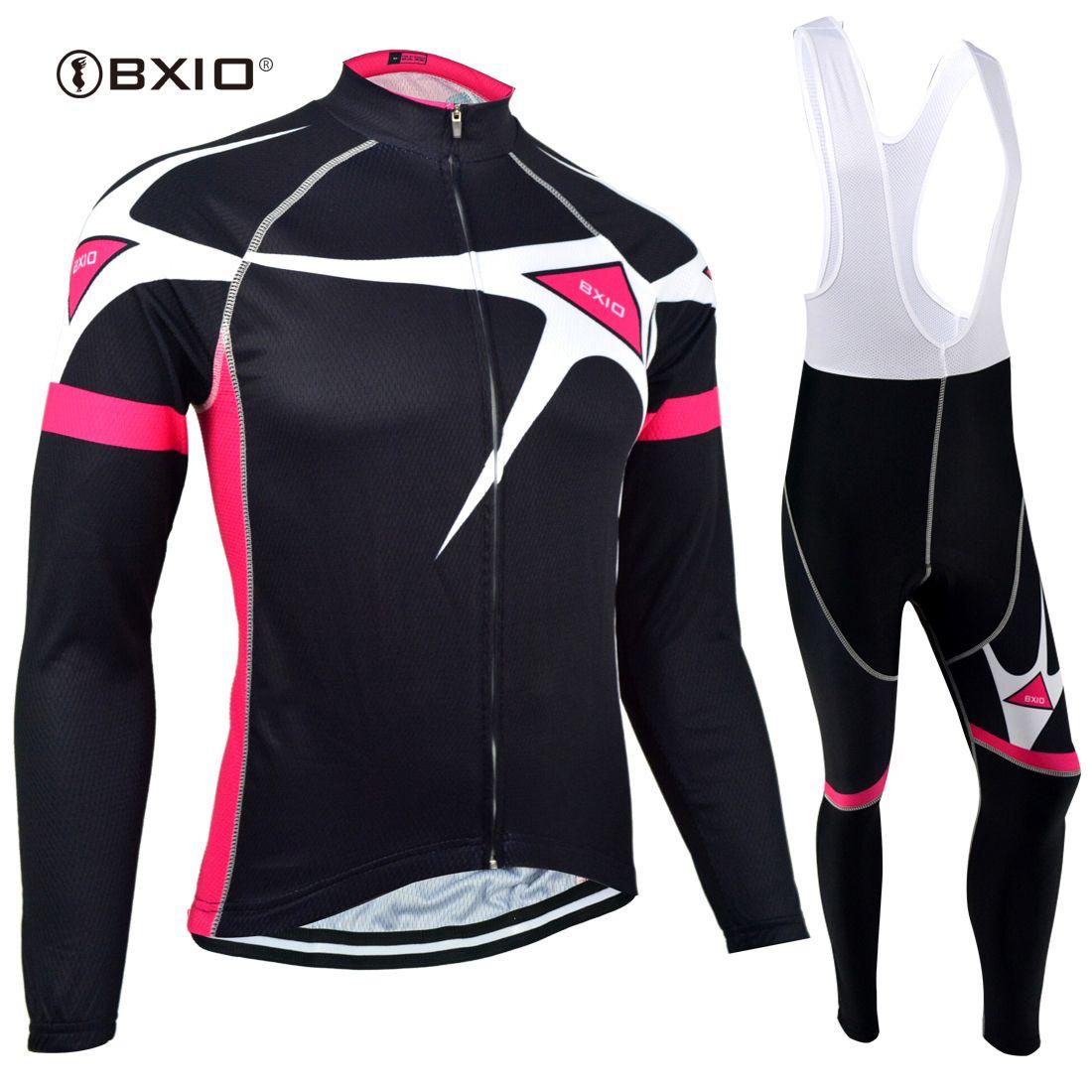 BXIO Women Cycling Clothing Black Cool Bike Jersey Winter Fleece Cycling  Clothing Gel Pad 3 Rear Pockets Pro Team Bike Taem BX 129 Cycling Jersey  Cycling ... 1c390ad4d