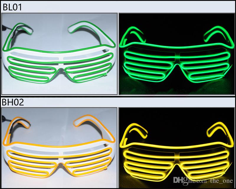 3 Modos de flashing rápido EL LED Óculos Iluminação Luminosa Do Partido Colorido Brilhante Clássico Brinquedos Para DJ Dance Party Máscara Rave Traje