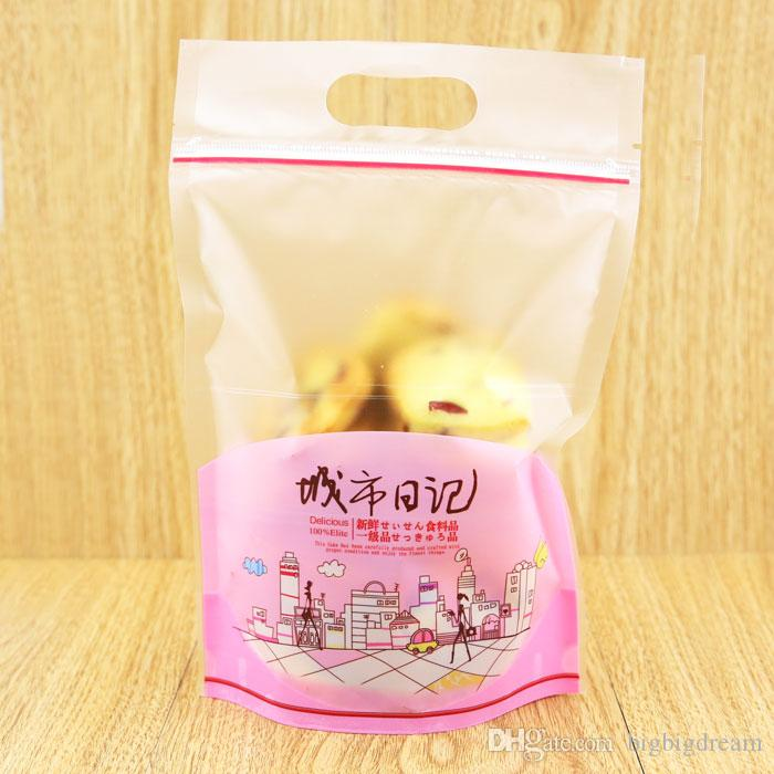 New 15.3cm*23cm bread biscuit snack bags Snack pack bag Candy gift Cookies favor Package plastic food bags