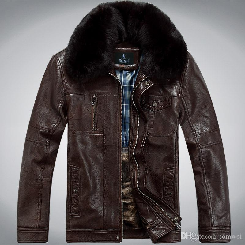 Mens Winter Coats Leather Jackets Real Fur Collar Snow Overcoat Cashmere  Tops Warm Thick Outwear Waterproof Windbreaker 4x 2017l UK 2019 From  Tomwei bbc4911d52e