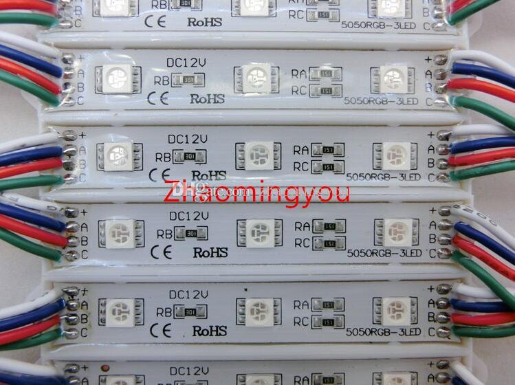 Envío gratis de alta potencia 5050 3 LED Módulo DC12V Diseño de publicidad a prueba de agua llevó módulos de iluminación, /