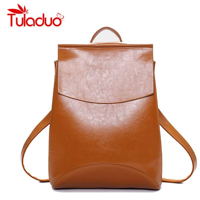 16936558aec2 Women Leather Backpack School Bags For Teenagers Laptop Backpacks  Top-handle Backpacks New Fashion Student Bags Mochila Escolar