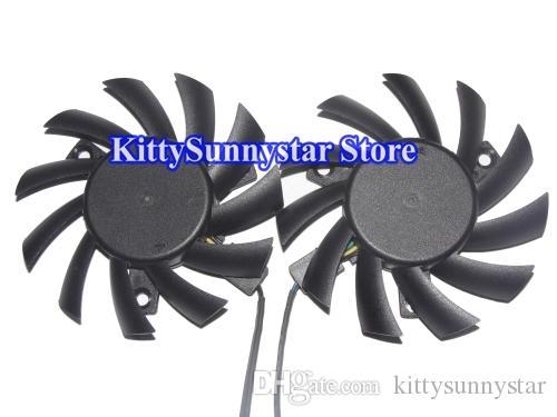 65mm PLA07010S12HH 12V 0.5A 4Wire Power Logic MSI R5770 6770 N450GTS HAWK Twins Video Fan