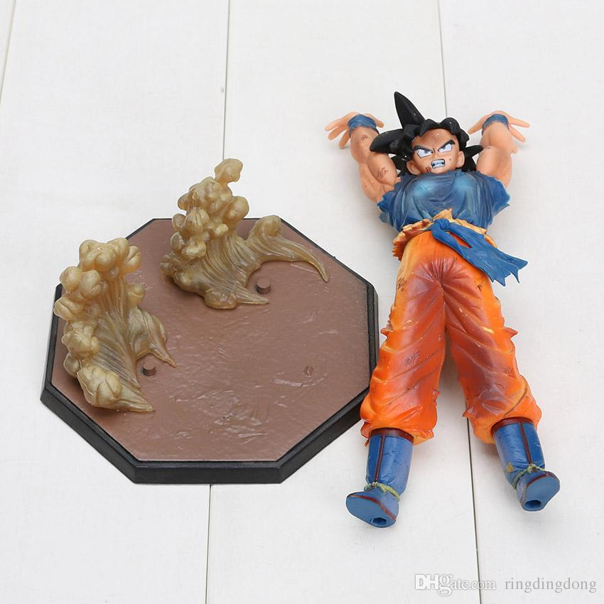 Anime Dragon Ball Z Goku Figures Super Saiyan LED Esprit Bombe Goku lampe de table PVC Dragon Ball Action Figure Collection Modèle Jouets