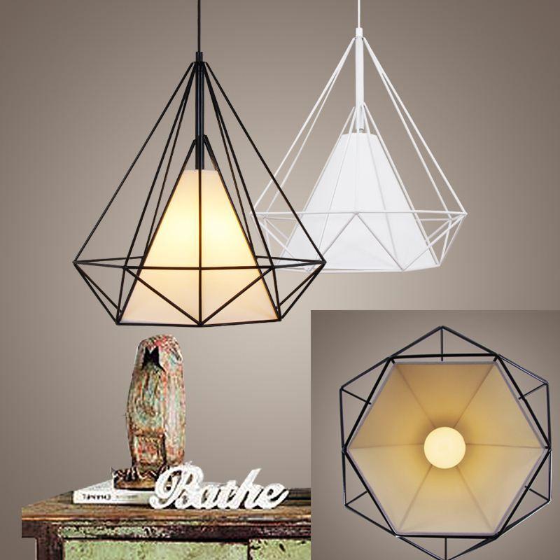 Birdcage pendant lights scandinavian modern minimalist pyramid light 30 aloadofball Image collections