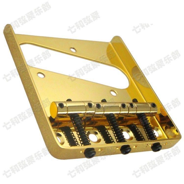 T02 gold color guitar strings Bridge Saddle Hardtail Bridge Top Load Electric Guitar Bridge guitar parts accessories
