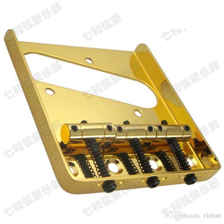 T02 gold farbe gitarrensaiten Brücke Sattel Hardtail Brücke Top Last E-gitarre Brücke gitarre teile zubehör