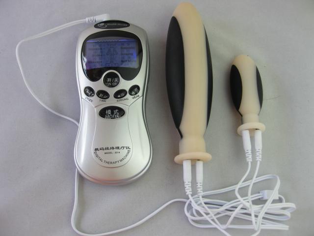 Electrodo de choque eléctrico Dildo anal Plug Butt Plug Stimulator Mastubator BDSM Bondage Gear Juguetes Sexuales Productos