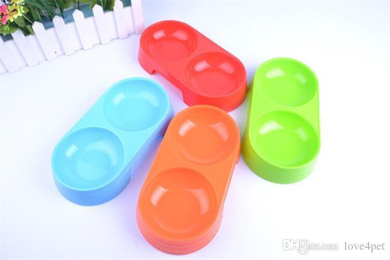 E74 Pet Tigela de estimação pet tigelas de plástico para animais de estimação cão de alimentação de água potável tigela frete grátis