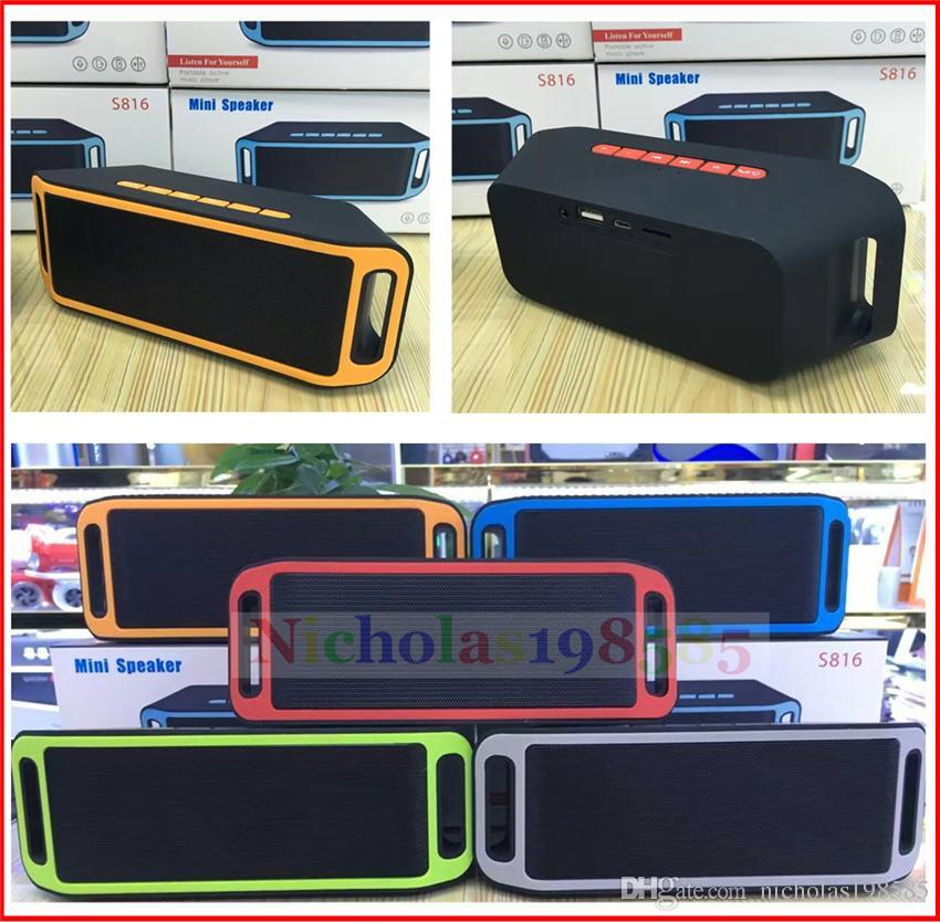 S816 Mini Speaker Wireless Bluetooth Speakers Outdoor 3w Dual Boss ...