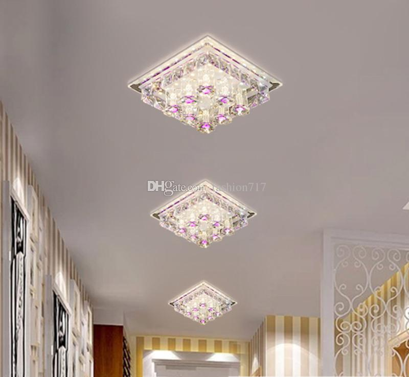 12W Aisle LED ceiling lamp living room crystal corridor aisle lights LED Ceiling Lights Luces de techo