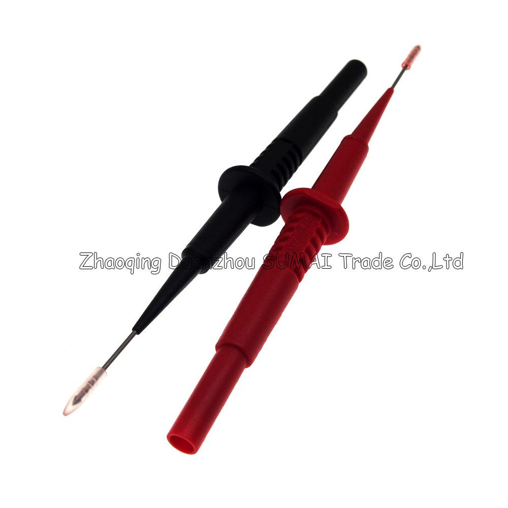 DIY 1mm back cable probe Pin,1mm Test probe adaptor with 4mm socket for car test,CATII 600V /MAX. 1A,Auto wire testing