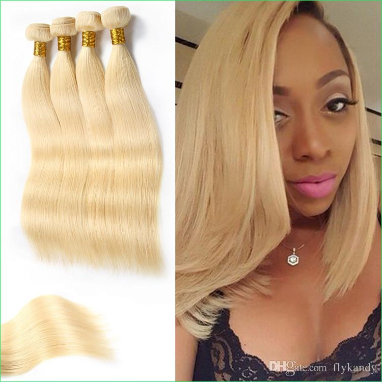 Platinum Blonde Malaysian Straight Hair Weft613 White Blonde