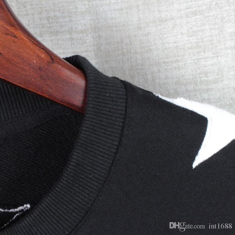 2016 حار مبيعات الرجال هوديس عارضة الرياضية طويلة الأكمام البلوز البلوز الصوف القماش مع قيلولة لينة من النجوم معطف سترة أبلى قمم